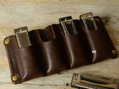 Pinegrove Leather Harmonica Holster